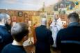 Помощник начальника УФСИН по организации работы с верующими о. Александр (Минин) провел божественную литургию в храме «Вознесения Господня» на территории ИК-29
